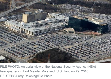An aerial view of the National Security Agency (NSA) headquarters in Fort Meade, Maryland, U.S. January 29, 2010. REUTERS/Larry Downing/File Photo